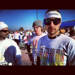 We did the Color Run 5K in Charlotte! It was SO fun. Everyone needs to do it at some point.