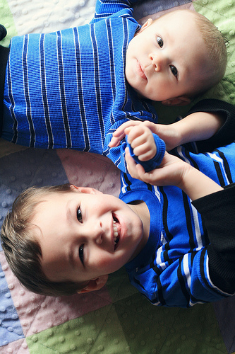I did a photo shoot for my cute nephews. They already look bigger.
